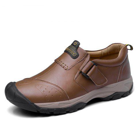 Warm and Comfortable in Winter Casual Shoes for Men - BROWN EU 44
