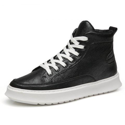Fashionable Gaobang Simple Casual Men'S Shoes - BLACK EU 44