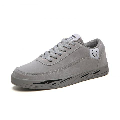 Men'S Casual Sport Shoes with A Smiley Face - GRAY EU 42