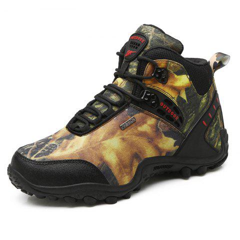 Gaobang Camouflage Boots Men'S Outdoor Climbing Shoes - ARMY GREEN EU 44