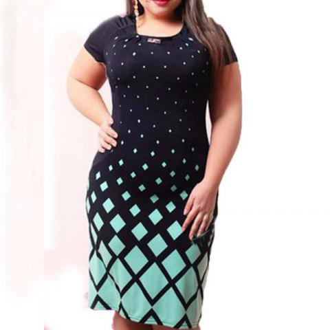 Office Women Dress Large Sizes New 2017 Plus Size Women Clothing 6XL -  GREEN 2XL 698933a05453