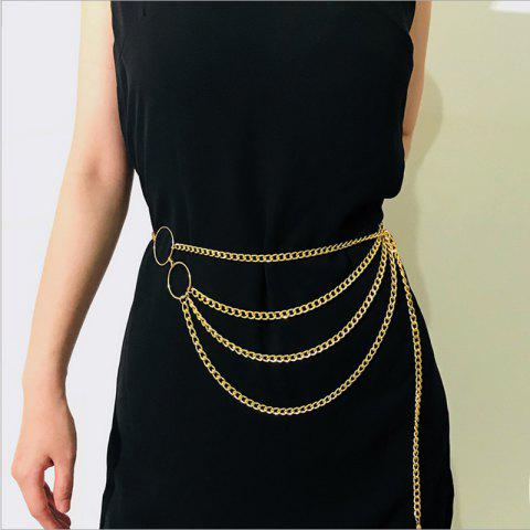 Multilayer sexy waist chain - GOLD 1PC