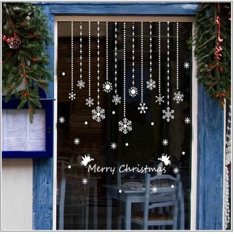 Christmas Snowflake Window Winter Wall Stickers for Glass Windows Decoration - multicolor A 24 X 36 INCH