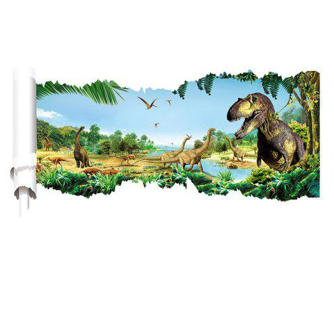 3D Through Dinosaur Wall Stickers Decals For Kids Rooms Decal Sticker    Multicolor A 20 X