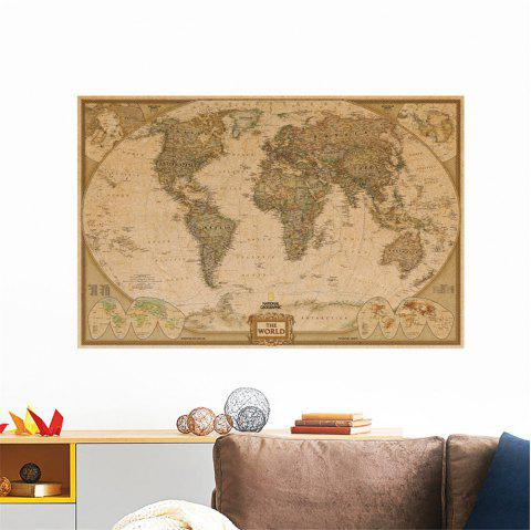 Kraft Paper Poster World Map for Living Room Bedroom Background Decoration - multicolor A 20 X 28 INCH