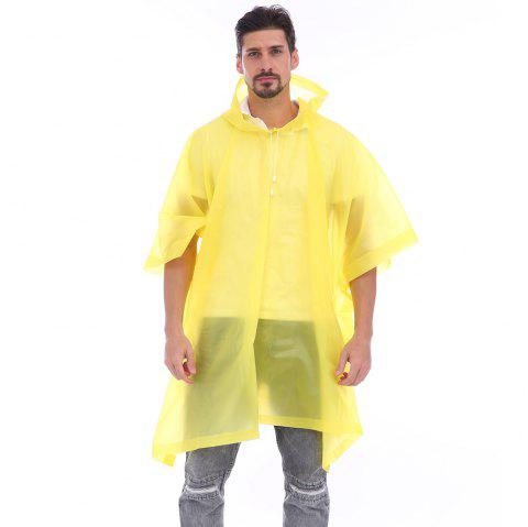 EVA Waterproof Rain Poncho Raincoat with Hoods for Outdoor Camping Theme Park - CORN YELLOW
