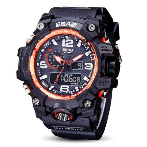 Fashion sports multi-function outdoor electronic silicone watch - multicolor B 1PC