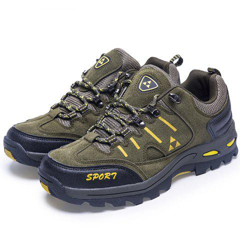 Men Outdoor Leisure Sports Shoes Antiskid and Wearable Mountaineering Shoes - ARMY GREEN EU 43