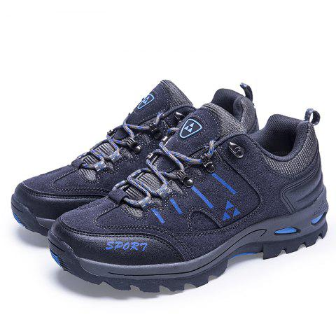 Men Outdoor Leisure Sports Shoes Antiskid and Wearable Mountaineering Shoes - CARBON GRAY EU 44