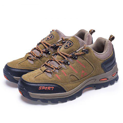 Men Outdoor Leisure Sports Shoes Antiskid and Wearable Mountaineering Shoes - KHAKI EU 43