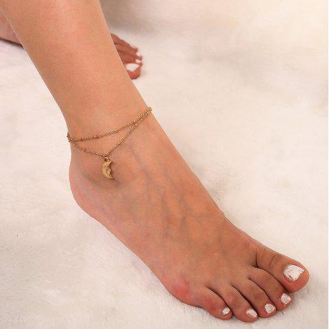 Multi-layer moon pendant anklet - GOLD 1PC