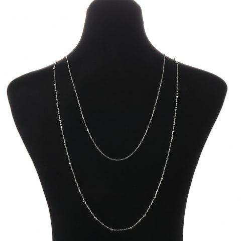 Sexy two-layer body chain - SILVER 1PC