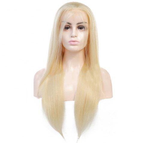 Longjia Lace Front Wig 613 Remy Hair Indian Human Hair - BLONDE 12INCH