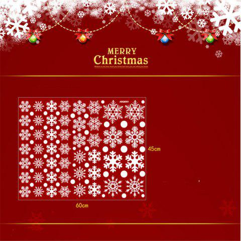Christmas Stickers For Window Merry Christmas Snowflake Art Wall Sticker Window - multicolor A 16 X 24 INCH