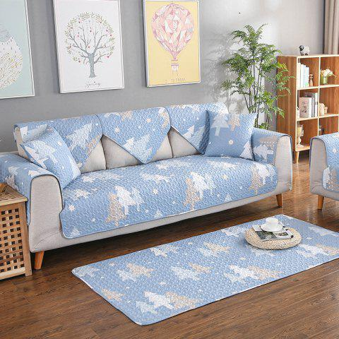 Four Seasons Universal Sofa Cushion for Pure Cotton Fabric - LIGHT BLUE 90*180