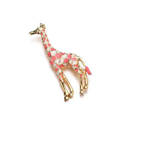 Broche girafe multicolore unisexe à la mode - Rose 1PC