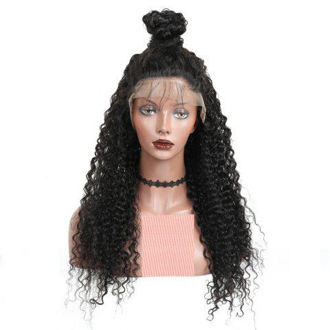 Long Deep Curly Natural Black Color Lace Front Wigs with Baby Hair For Women - NATURAL BLACK 22 INCHES