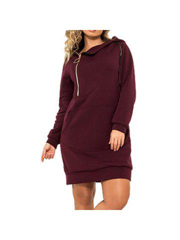 d90d75eab0fa5 Plus Size Women Autumn Hooded Big Large Size Stretchy Warm Winter Clothes