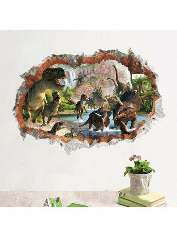 3D Wall Sticker Dinosaur Smashed Window Kids Room Decoraton Vinyl Decals 7a85b8f7ee
