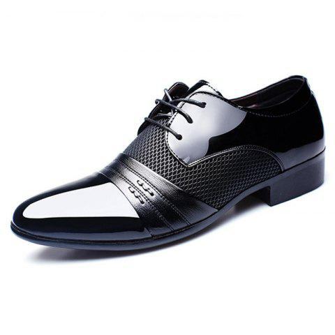 New Men's Business Suits Shoes with Extra Size - BLACK EU 44