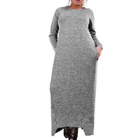 3531bf9bae2f5a Casual Dress 5XL 6XL Automne Hiver Robe Longue Grande Taille Manches  Longues Maxi Dress