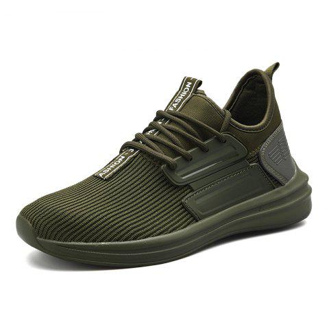 Men Boots Fashion Soft and Comfortable Breathable Shoes Sneakers - ARMY GREEN EU 41