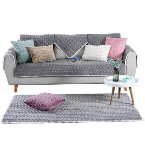 Reversible Sofa Cover Couch Slipcover Professional Protector Home Decor - GRAY