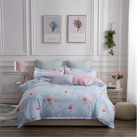 OMONNES Four Sets of Bed Fresh and Simple Sheets Quilt Jade Beauty - PINK QUEEN SIZE