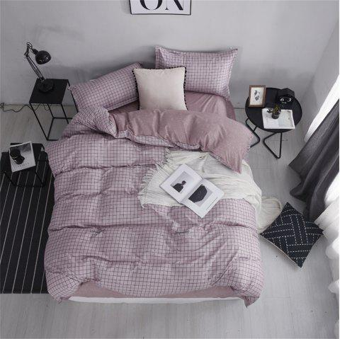 Bed Four Sets of Fresh and Simple Sheets Quilt Prague - LIPSTICK PINK FULL