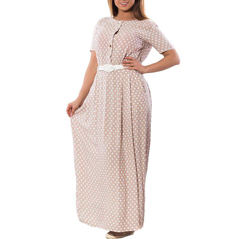 Summer Polka Dot Women Maxi Dress 2018 Plus Size Elegant Female Long Dress