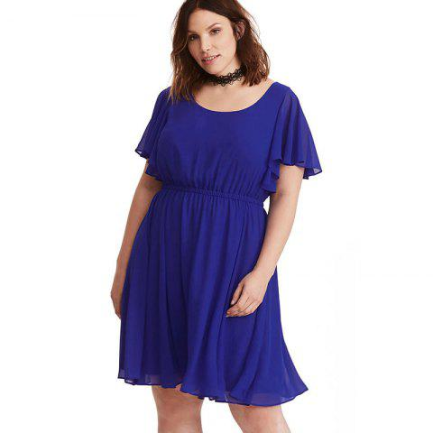 1042f73984b9 41% OFF] 2019 Plus Size Office Lady Dresses Women Chiffon Dress In ...