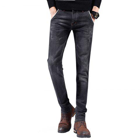 Men'S Pants Casual Pants Sports Pants Straight Pants Working Party Outing Pants - NATURAL BLACK 32