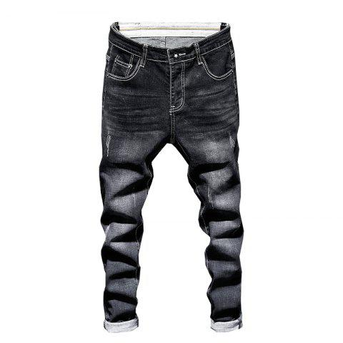 Men'S Pants Casual Pants Outdoor Sports Pants Fitness Pants Street Pants Fashion - NATURAL BLACK 36