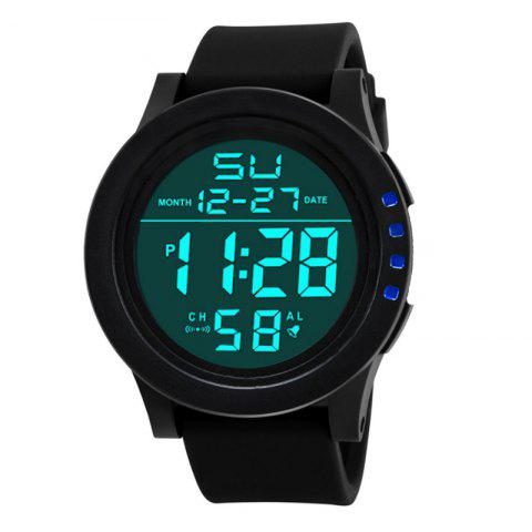 HONHX Men's Fashion LED Outdoor Sports Waterproof Electronic Watches - BLUE