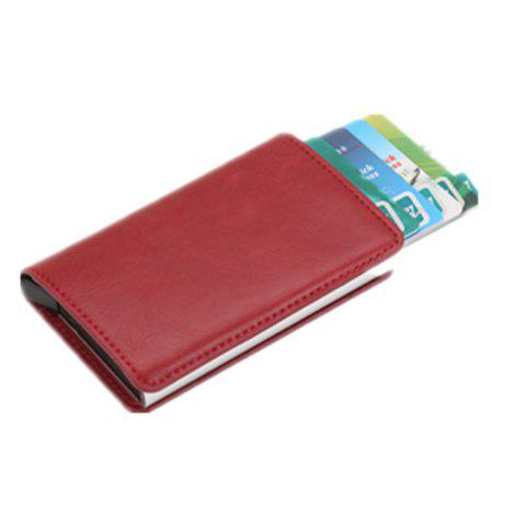 Aluminium Alloy Credit Card Package Aluminum Card Clip Antimagnetic Credit Card - RED WINE 9.6*6.5*1.3CM