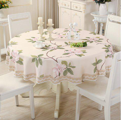 Modern Simple Table Decorations Rural Cloth Art Round Table Cloth - multicolor A 180*180*0.3CM