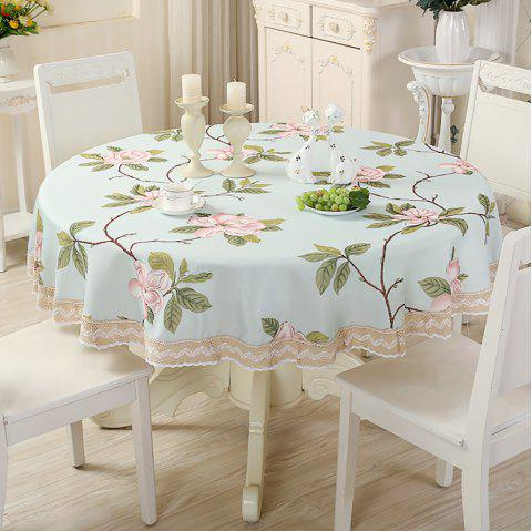 Table ronde moderne d'art de tissu rural de décorations de table simple - multicolor B 180*180*0.3CM
