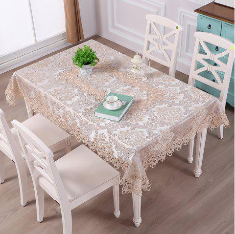 Fashion Home Table Decoration Lace Fabric Embroider Rectangular Table Cloth - multicolor 130*180*0.5CM