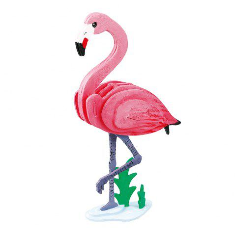 Robud 3D à la main à colorier en bois assemblé jouets pour enfants Flamingo HC206 - multicolor SINGLE