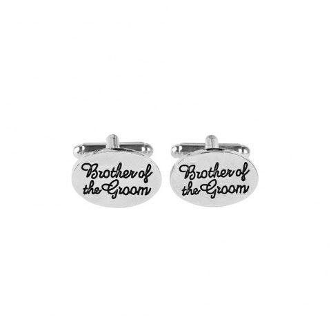 Alphabet Groom  Brother Brother's Holiday Wedding Links - Argent