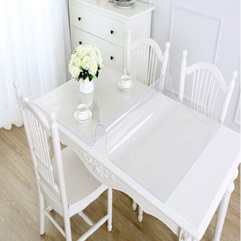 PVC Waterproof  Transparent Tablecloth with pattern Kitchen Table Cover Oil Clot - TRANSPARENT