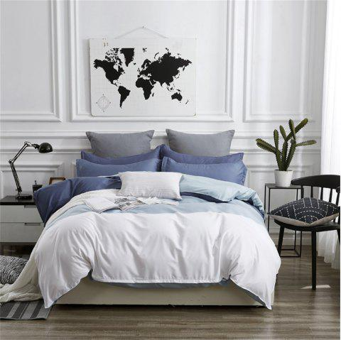 OMONNES Four Sets of Beds in Bed Fresh and Simple Sheets Quilt Big South - SLATE BLUE SINGLE