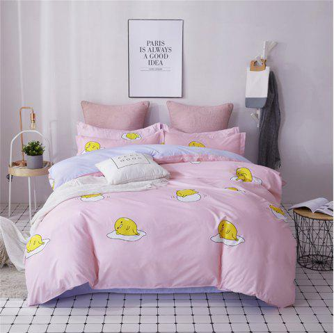 OMONNES Four Sets of Bed Fresh and Simple Sheets Quilt Yolk Baby - FLAMINGO PINK FULL