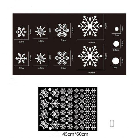 Snowflake Window Glass Stickers for Christmas Decorations Static Christmas - multicolor A 18 X 23 INCH