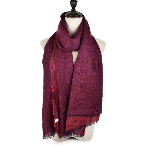 Ladies Winter Style Warm Scarf Super Long Single Color Fashion Scarf - RED