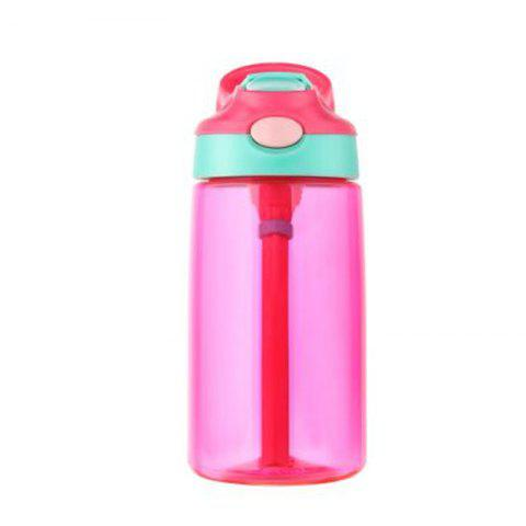 Creative duckbill bounce cover plastic cup - VIOLET RED 500ML