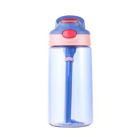 Portable duckbill bounce cover plastic cup - LAVENDER BLUE 500ML
