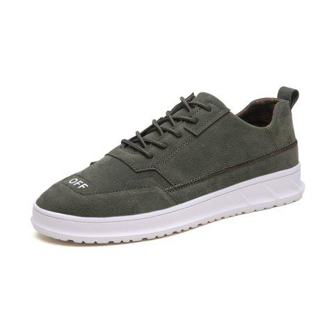 Men Casual Shoes Fashion Breathable Lace Up Sneakers - ARMY GREEN EU 42