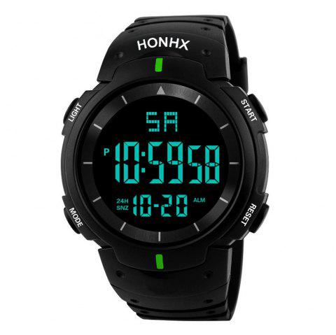 HONHX Fashion Men's LED Camping Out Digital Military Luxury Sport Date Watch - GREEN