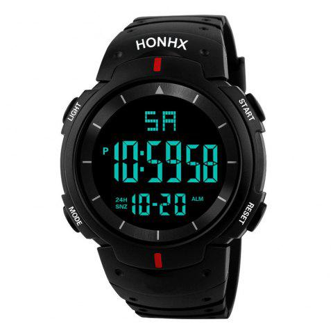 HONHX Fashion Men's LED Camping Out Digital Military Luxury Sport Date Watch - RED